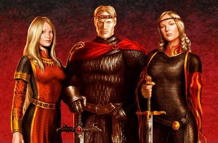 Aegon, Rhaenys and Visenya